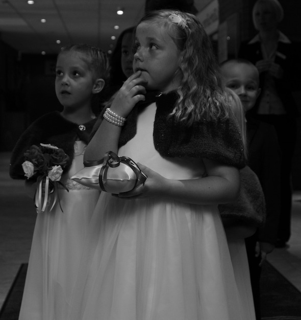 white wedding photography liverpool photo of little flower girl